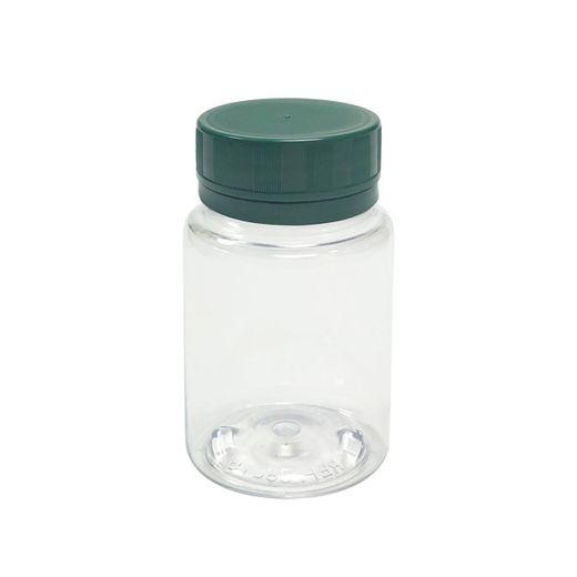 Pote-Para-Capsulas-Pet-75ml-cristal-com-tampa-verde