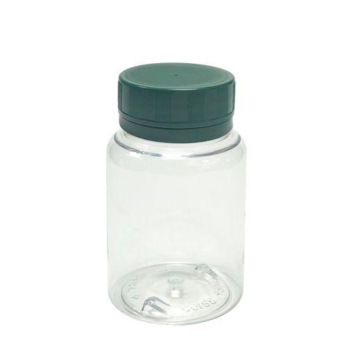 Pote-Para-Capsulas-Pet-100ml-cristal-com-tampa-verde