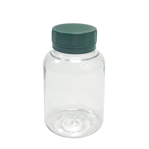 Pote-Para-Capsulas-Pet-150ml-cristal-com-tampa-verde