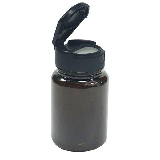 Pote-Para-Capsulas-Pet-75ml-ambar-com-tampa-preta