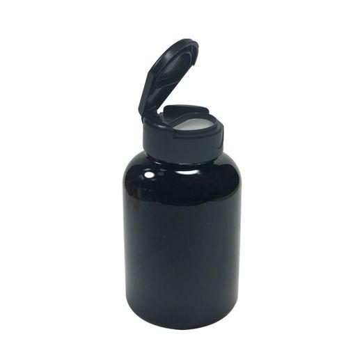 Pote-Para-Capsulas-Pet-200ml-preto-com-tampa-preta