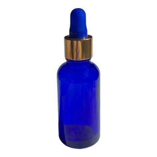 Frasco-azul-com-tampa-dourada-e-bulbo-azul